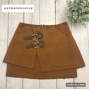 Anthropologie Meadow Rue Buckled Felt Skirt